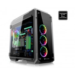 Case sin fuente Thermaltake View 71 Tempered Glass RGB Edition, Full Tower, Negro, USB 3.0, Audio., Audífono y microfono,
