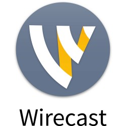 Sofware produccion Streaming Telestream Wirecast Pro WINDOWS, Streaming, Recording, and Editing, Unlimited Video Sources