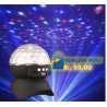 PARLANTE IBLUE BOLA DISCO, BLUETOOTH, USB, MICRO SD, luces multicolor led, bateria recargable, PN JT-313-BK