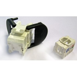 Conector Hembra de red 3M, 8 unidades, protector contra polvo,  1 x RJ-45 Hembra IEEE 802.3at Network - Blanco