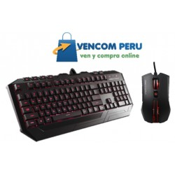 KIT GAMING TECLADO + MOUSE CM STORM DEVASTATOR LED RED
