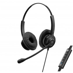 Auricular CALLCENTER Klip Xtreme VoxPro-S KCH-911, Headset, Para Conference, Wired, On-Ear Vol-Mic