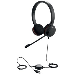 Auricular CALLCENTER Jabra Evolve 20 UC stereo, Headset, on-ear, Duo UC. Stereo UC