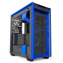 Case sin fuente NZXT H700i, Mid Tower, Negro/Azul, Panel lateral transparente, USB 3.1