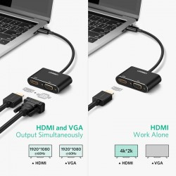 ADAPTADOR video externo por USB para monitores HDMI Y VGA