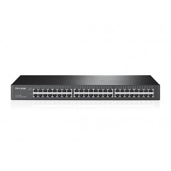 Switch TP-Link TL-SG1048, 48 RJ-45 GbE (10/100/1000 Mbps), Capacidad de hasta 968 Gbps