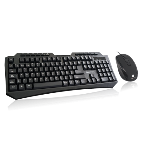 KIT TECLADO + MOUSE ANTRYX PRECISION Z7200,  USB, 1600 dpi, 7 LED, ASC-Z7200K-SP