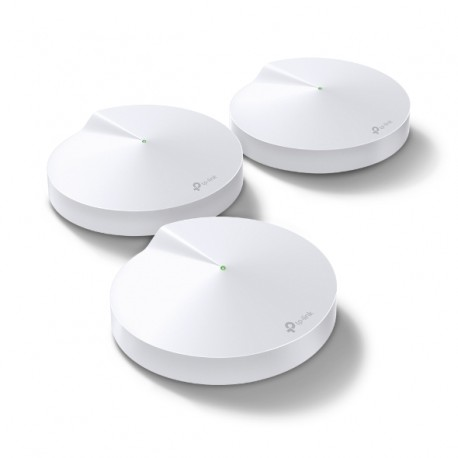 Red Mesh TP-LINK Deco M5 AC1300 Whole-Home Mesh Wi-Fi System, Quad-core CPU, 5GHz, 2.4GHz, 4 antennas
