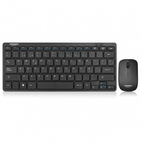 KIT TECLADO y MOUSE MICRONICS SPIRIT MIC WT800, WIFI SMART TV, windows, android