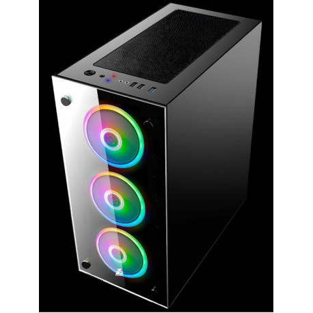 Case sin fuente 1ST Player V6, 0.6mm PANEL LATERAL VIDRIO TEMPLADO, USB 3.0, atx
