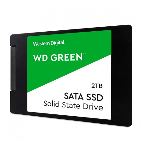 "Unidad de estado solido Western Digital Green, WDS200T2G0A, 2TB, SATA 6Gb/s, 2.5"", 7mm."