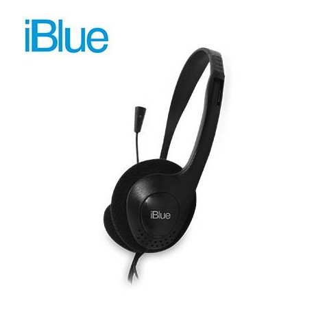AUDIFONO IBLUE HS-2001BK Con MICROF.  3.5mm, BLACK, 3.5mm, 2mts