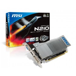 Tarjeta de video MSI NVIDIA GeForce 210  1GB DDR3 64-bit  HDMI/DVI/VGA  PCI-E 2.0 X16.