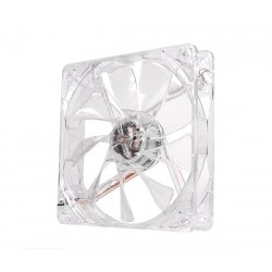 Fan Thermaltake Pure 12 LED White, 12 CM.  Velocidad 1000 RPM, voltaje 12V, 3 pines.