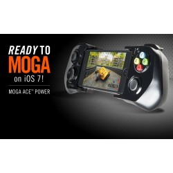 GamePad MOGA Power Series iOS, para iPhone 5 / 5c / 5s, negro.