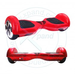 Scooter Smart Balance Wheel, Bluetooth, Parlante, luces, 12 KM/h, maleta, rojo.