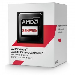 Procesador AMD Sempron 3850  1.30 GHz  512 KB x 4 L2  AM1  25W  28nm  Caja