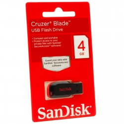 Memoria Flash SanDisk Cruzar Blade  capacidad 4 GB  interfaz USB 2.0