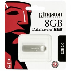 Memoria Flash USB Kingston DataTraveler SE9  8GB  USB 2.0  Champagne.