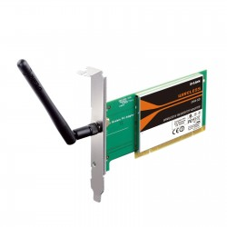 Tarjeta Wireless D-Link Wireless N DWA-525  2.4GHz  802.11b/g/n  150Mbps  PCI 32-bits.