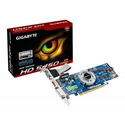 Tarjeta de video GIGABYTE Radeon HD 5450  1GB DDR3 64-bit  HDMI / VGA / DVI  PCI-E 2.1.
