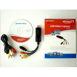 USB VIDEO CAPTURADOR Y EDITOR DE VIDEO Y AUDIO CAP JPG -usb 2.0  -NTSC / PAL  -Captura  MPEG 4/2/1- fuente VHS, V8 , HI8