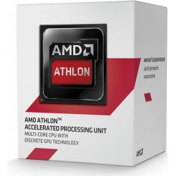 Procesador AMD Athlon 5350  2.05 GHz  512 KB x 4 L2  AM1  25W  28nm  Caja. Video integrado Radeon R3 Series.