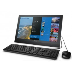 "All-in-One Dell Inspiron 20 3000, 19.5"" HD, Intel Core i3-6100U 2.3GHz, 4GB DDR3, 500GB. DVD Supermulti,  Windows 10"