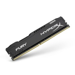 Memoria kingston HyperX Fury Black, 4 GB, DDR4, 2400 MHz, XMP.