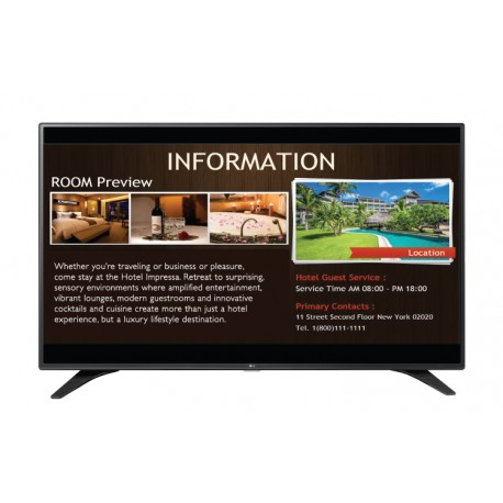 "Televisor LG 55LW540S, 55"" LED, FHD, 1920 x 1080.Brillo 300cd/m2, Interfaz: RF / AV In/ RGB,  Puerto LAN"