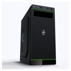 Case Gamemax 5907 ATX micro ATX black body with black front panel and internal black coating with 2xUSB 2.0