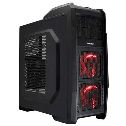 CASE Gamemax GAMING G506 sin fuente BLACK/RED CASE ABS MATERIAL + M
