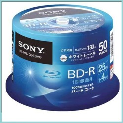 DISCO BLU-RAY SONY BD-R  PRINTABLE 50 unid, 25GB 6X