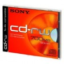 Disco CD SONY SLIMCASE, CD-RW  700MB/80M 4X