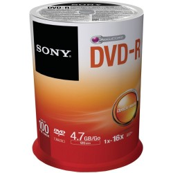 Discos DVD Sony DVD-R 16x Recordable DVD 4.7GB - 100 unid Disc Spindle