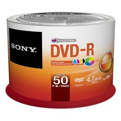Discos DVD Sony DVD-R CONO 50 Pack Ink-Jet Printable  Bulk Spindle