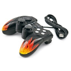 GamePad Genius MaxFire Blaze 3  vibracion  USB  para PC/PS3. 12 botones programables  2 mini Stick  funcion turbo