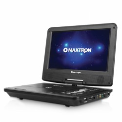 "REPRODUCTOR DE DVD PORTABLE Maxtron  BROADCASTER MX1834, DVD/VCD/MP4, TV Digital, Video In/out. , LCD 9"" TV, FM"