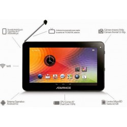 "Tablet Advance Prime PR4146, 7"" 1024x600, Android 4.2, 8 GB, 1GB DDR3, TV Digital ISDB-T."