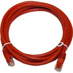 Tripp-Lite Cable Patch Moldeado Snagless Cat6 Gigabit (RJ45 M/M), Rojo, de 0.91m.