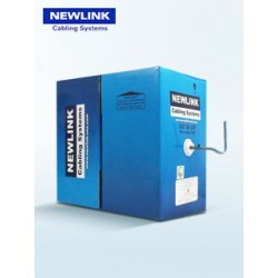 Cable UTP NEWLINK categoria CAT-5E, conductor de cobre, diametro de conductor 24AWG, 4 pares de hilos UTP, color gris