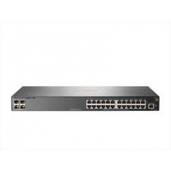 Switch HPE Aruba 2930F, 24 RJ-45 GbE, 4 SFP+ 1/10GbE. Switching 128 Gbps, 1GB DDR3 SDRAM, buffer de 12.38 MB, 4 GB eMMC.