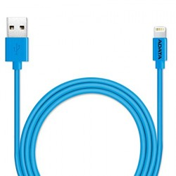 Cable Lightning ADATA MFi Certified, Cable for iphone, ipad. Color Azul