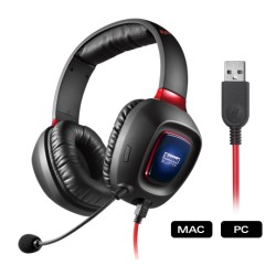 AUDIFONO C/MICROF. CREATIVE Sound Blaster Tactic3D Rage USB V2.0,  BLACK, GAMING, PN 70GH023000004