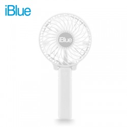 VENTILADOR PORTATIL IBLUE CON BATERIA RECARGABLE WHITE, BS-F205P-WT