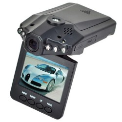 "Cámara de video para automóvil Road Dash DVR, LED IR, 2.5"" TFT LCD: 270° de giro, USB 2.0."