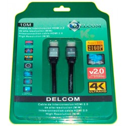 Cable Hdmi 2.0 De 10 Mts Delcom Ultra Hd 4k 3d Audio Video