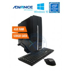 Torre Advance Vission VS6611, Intel Celeron N3050 1.60GHz, 4GB DDR4, 500GB SATA. DVD SuperMulti, Intel HD Graphics, Win10